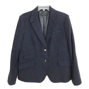 Talbots textured wool 2 button blazer jacket